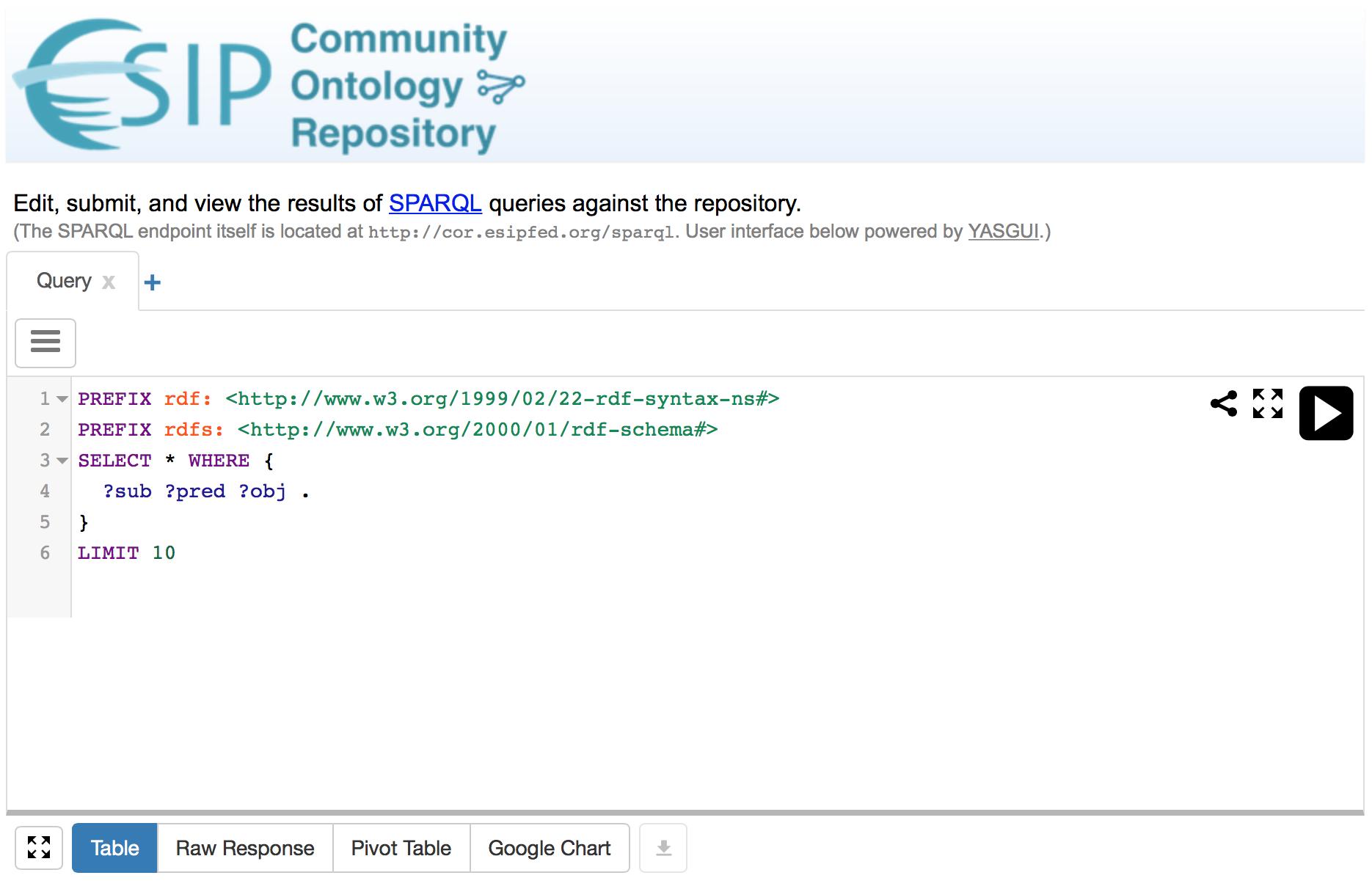 Querying via SPARQL API - MMI ORR